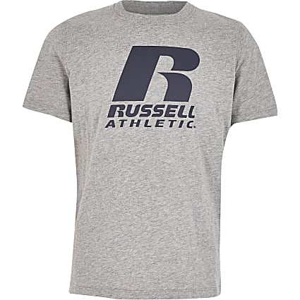 Boys Russell Athletic grey T-shirt
