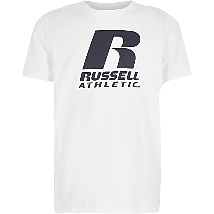 Boys Russell Athletic white T-shirt