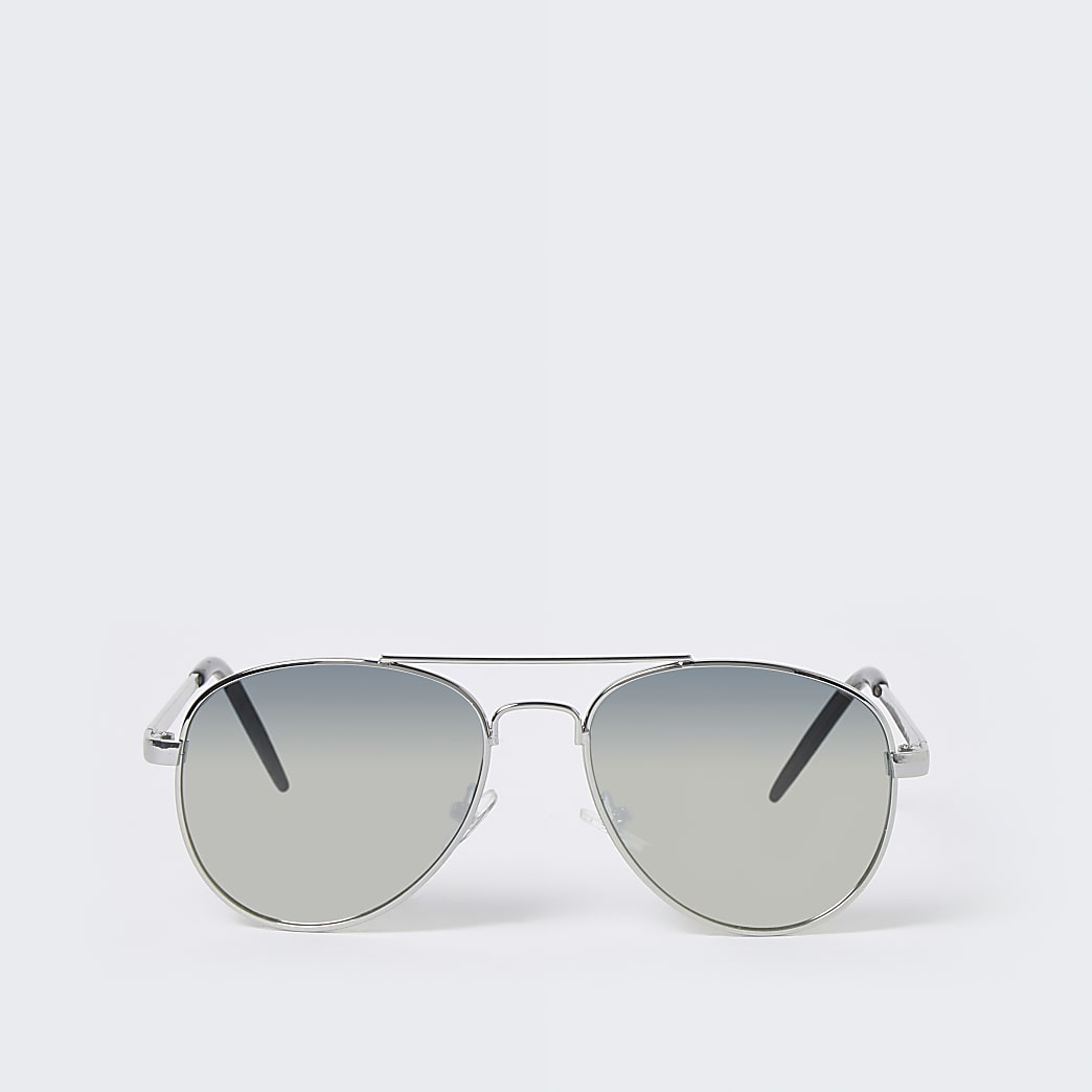 Boys silver aviator sunglasses