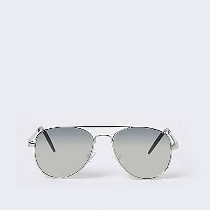 Boys silver colour aviator sunglasses