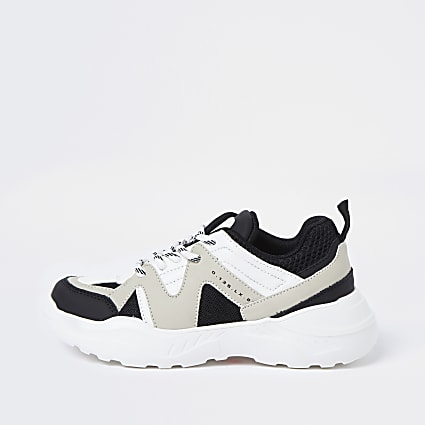Boys stone caged chunky trainers