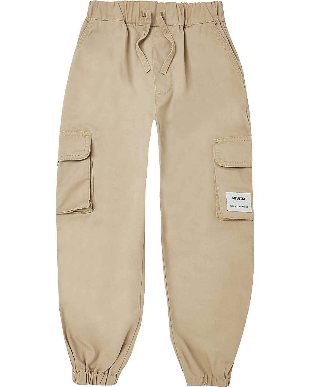 Boys stone cargo trousers