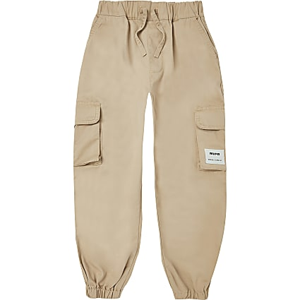 Boys stone cargo trousers