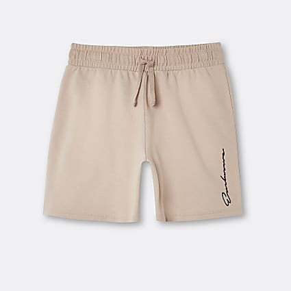 Boys stone 'Exclusive' shorts