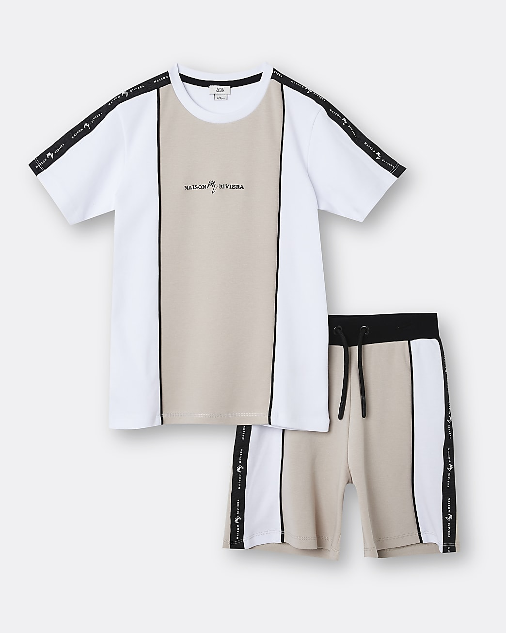 Boys stone Maison Riviera t-shirt outfit