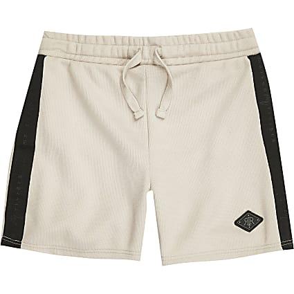 Boys stone 'Maison Riviera' tape shorts