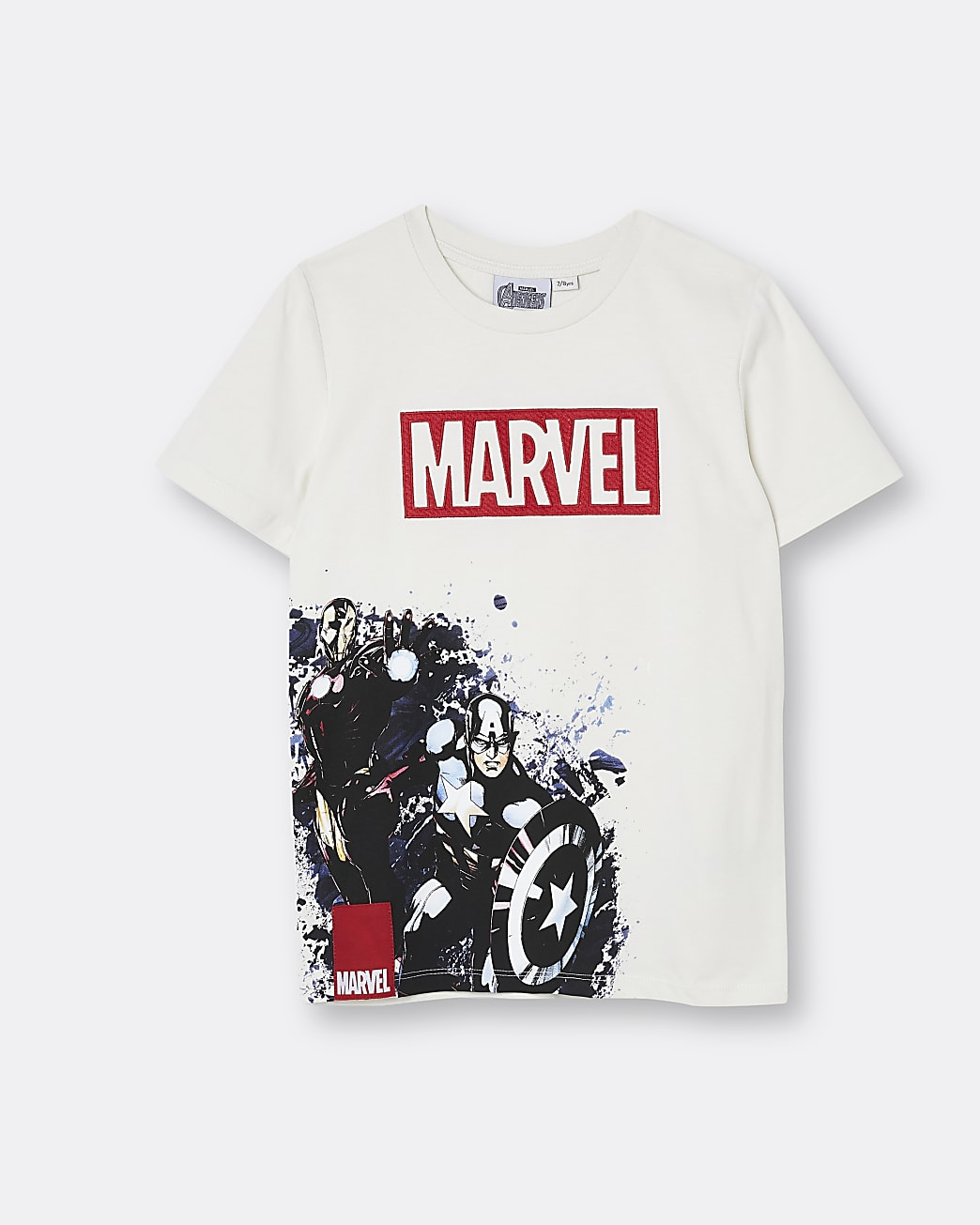 Boys stone Marvel embroidered t-shirt