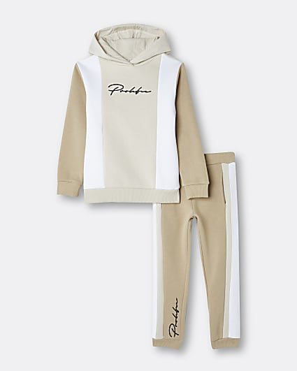 Boys stone Prolific hoodie and joggers set