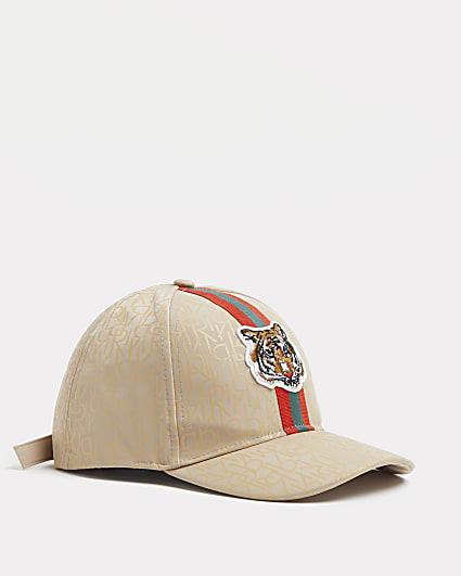 Boys stone RI monogram tiger cap