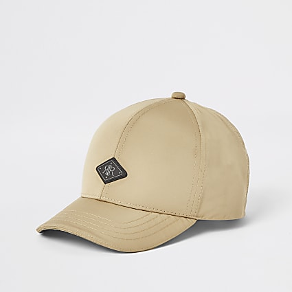 Boys stone RIR curved peak hat