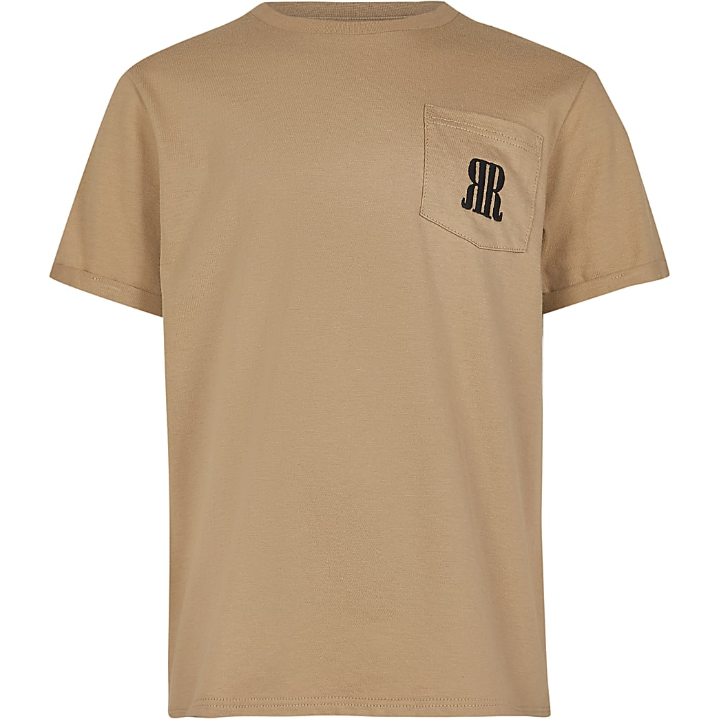 Boys stone RR pocket t-shirt