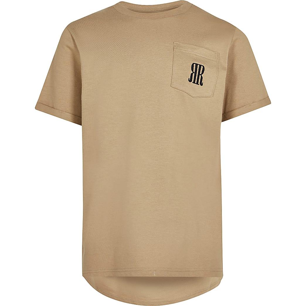 Boys stone RR pocket t-shirt