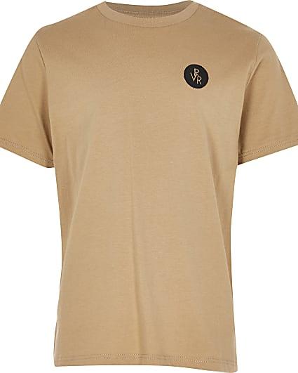 Boys stone RVR chest print t-shirt