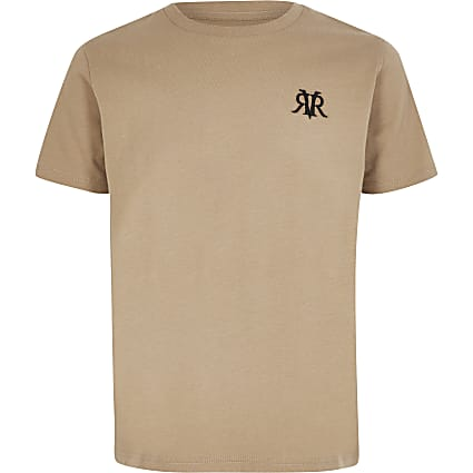 Boys stone RVR embroidered T-shirt