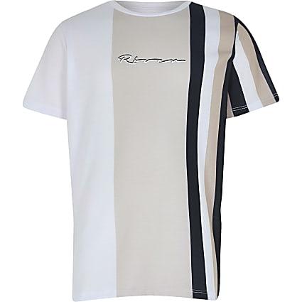 Boys stone stripe print t-shirt