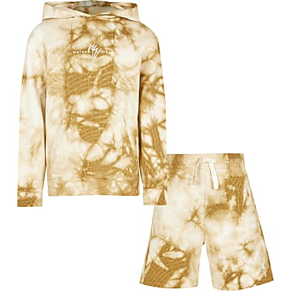 Boys stone tie dye Maison hoodie outfit