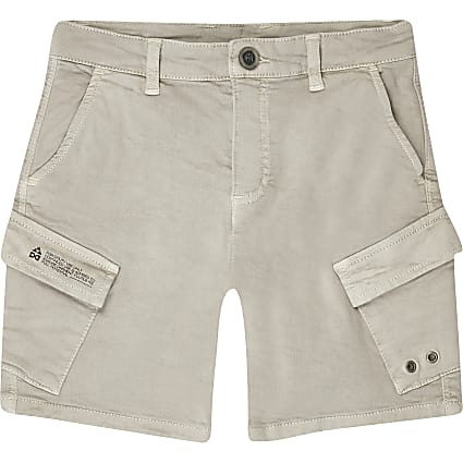 Boys stone wash cargo shorts