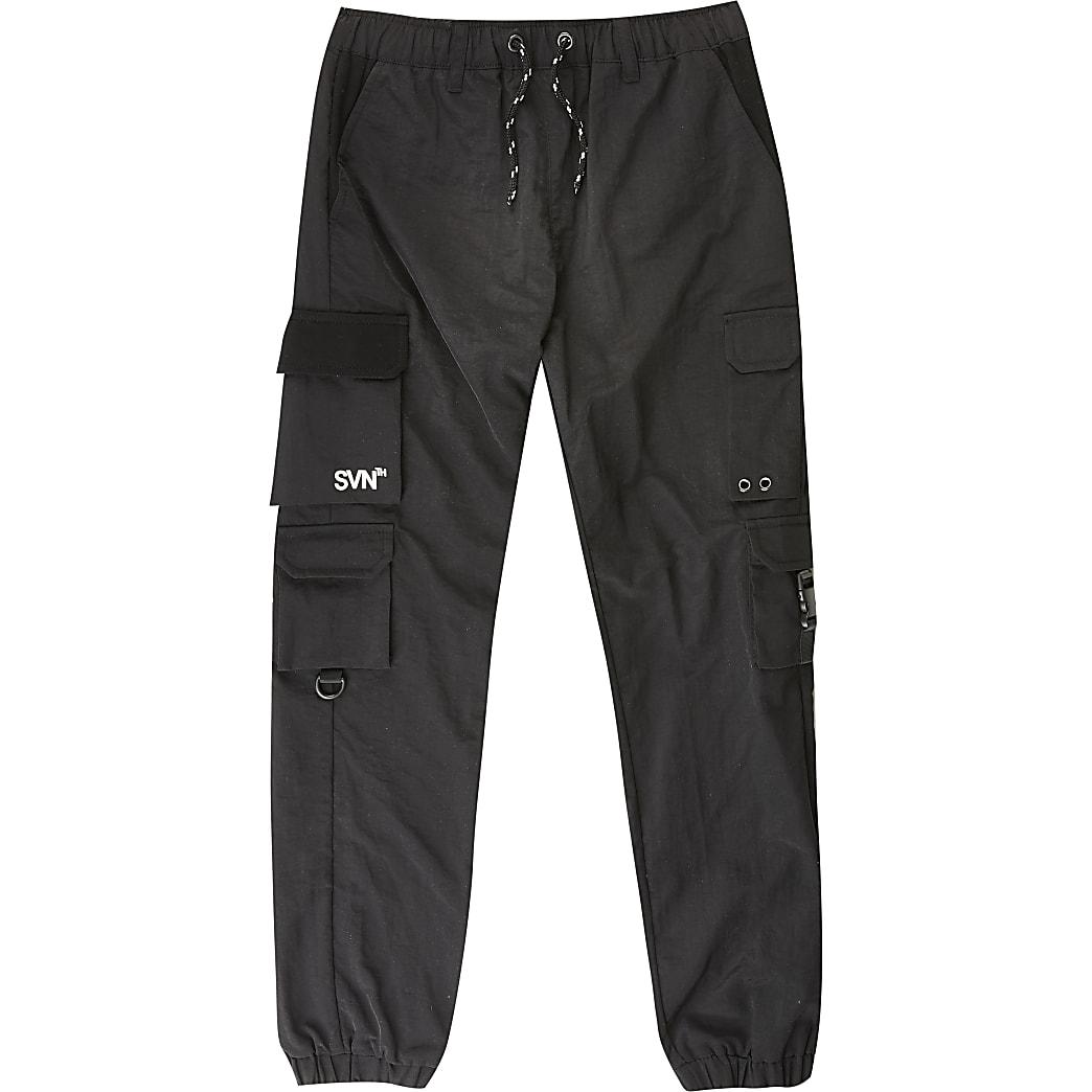SVNTH - Zwarte nylon joggingbroek voor jongens