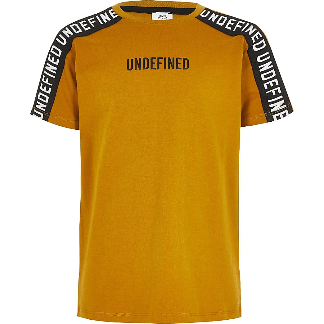 Undefined- Geel T-shirt met tape voor jongens