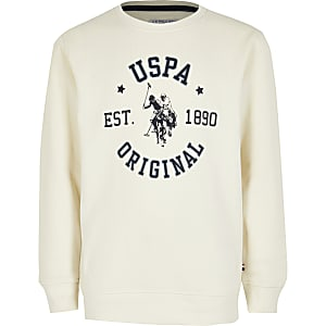 U.S. Polo  Assn. – Sweatshirt in Creme