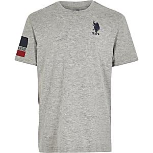 U.S. Polo Assn. - Grijs T-shirt voor jongens