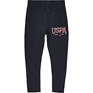 Boys U.S. Polo Assn. navy branded joggers