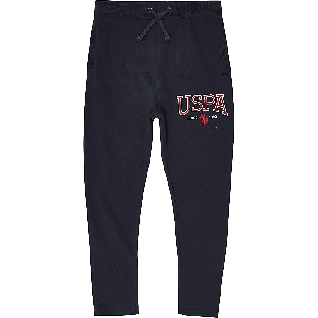 Boys U.S. Polo Assn. navy branded joggers