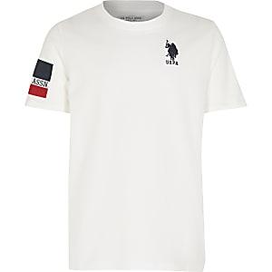 U.S. Polo Assn. – T-shirt blanc pour garçon