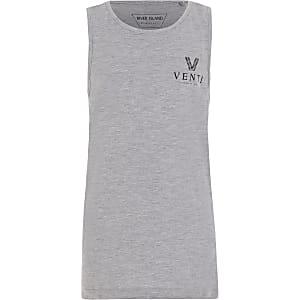 Venti - Grijs tophemdje voor jongens