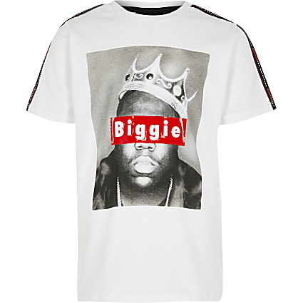 Boys white biggie photo T-Shirt