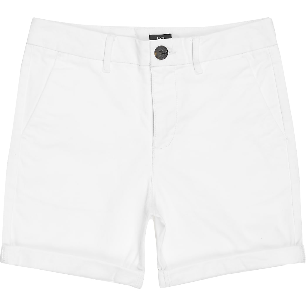 Witte chino short voor jongens