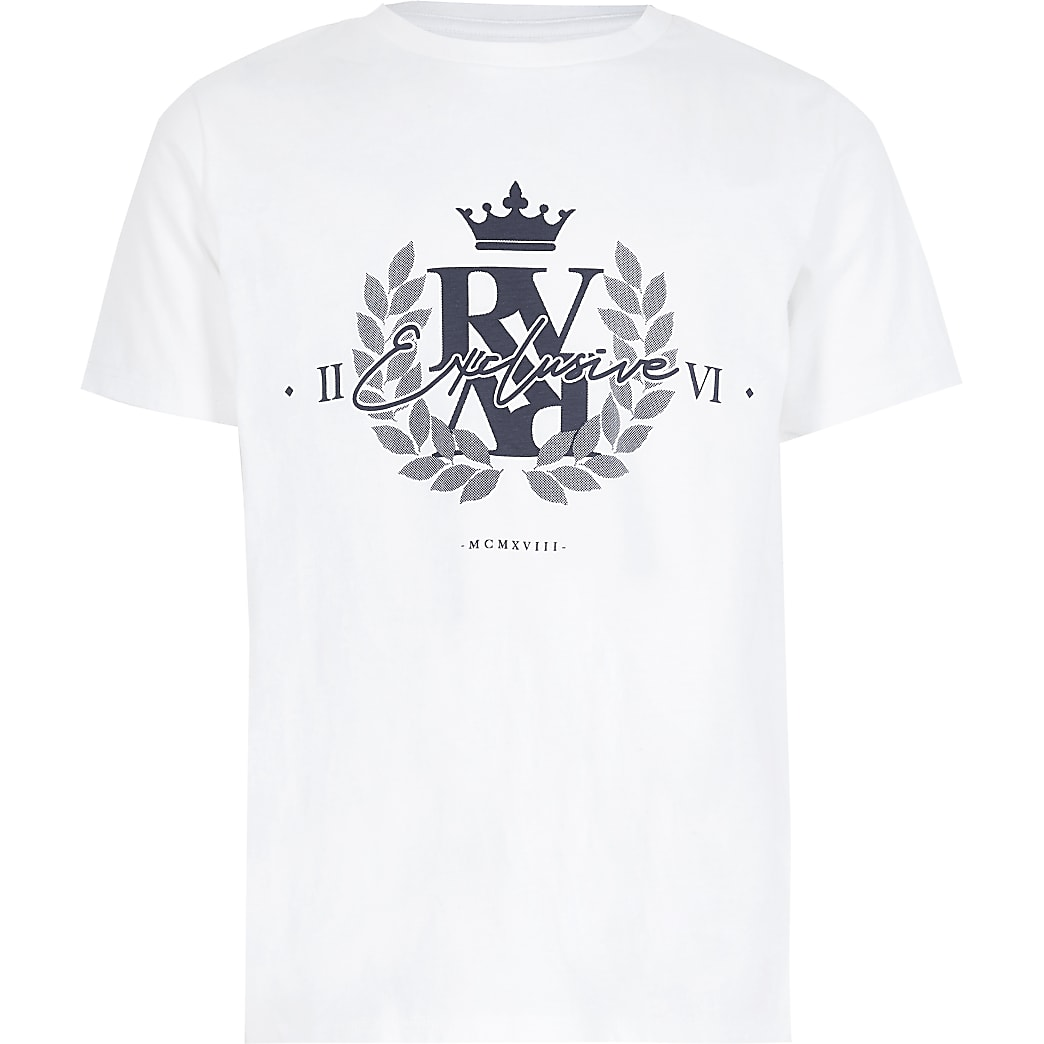 Boys white 'Exclusive' T-shirt