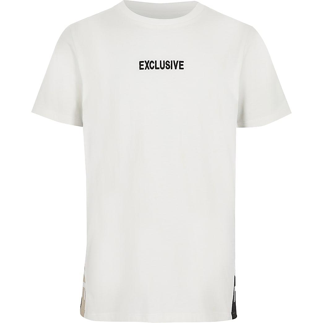 T-shirt blanc « Exclusive » pour garçon