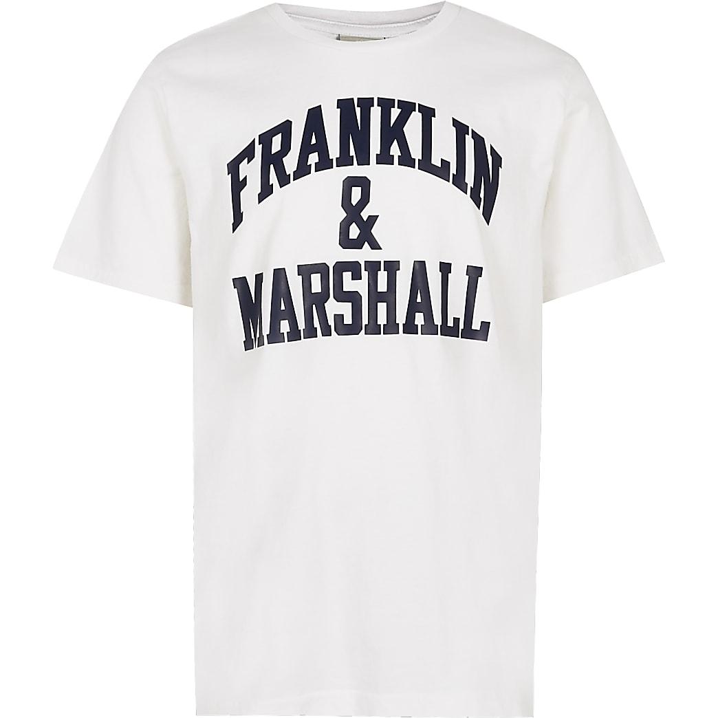 Boys white Franklin & Marshall t-shirt