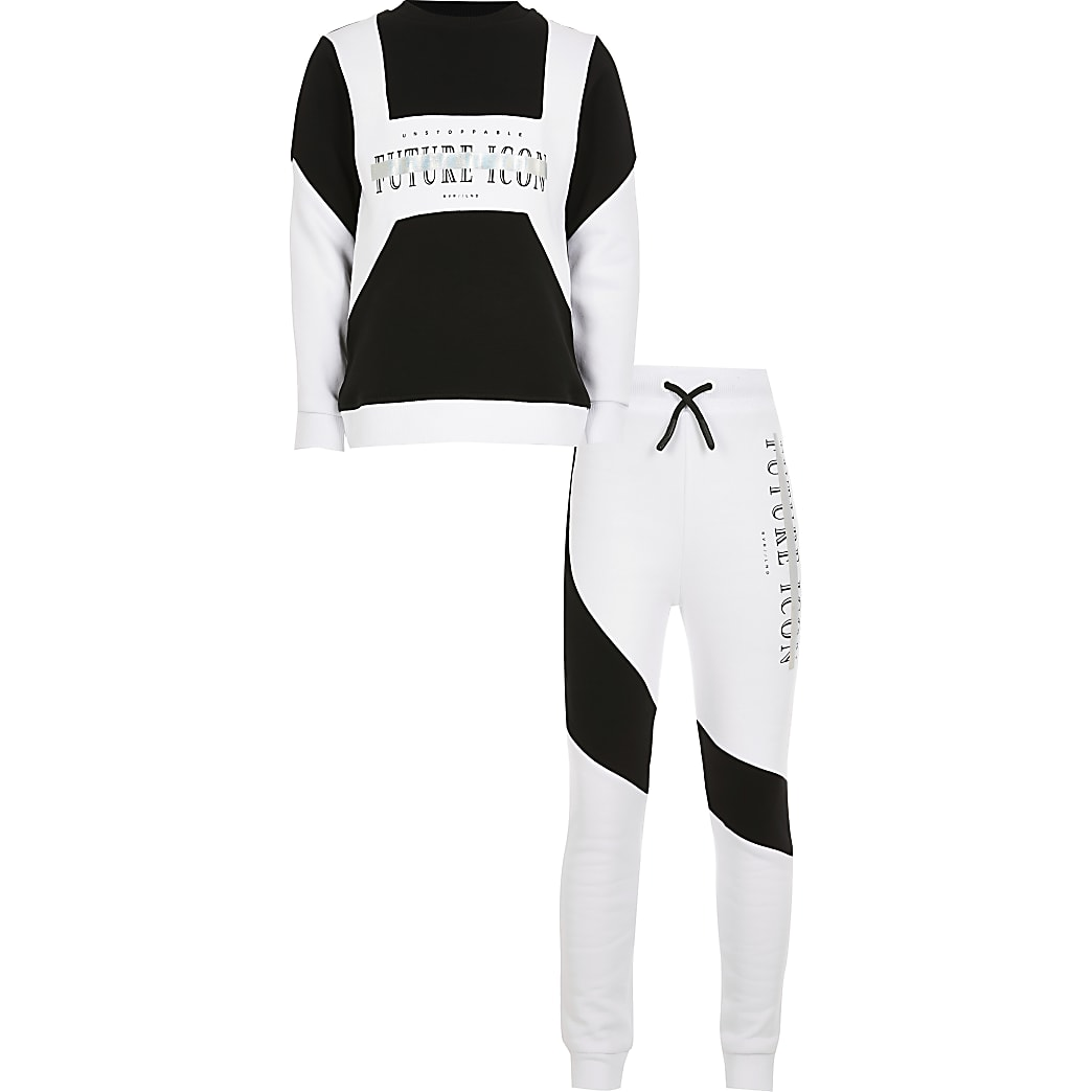 Boys white 'Future Icon' tracksuit