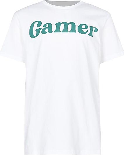 Boys white 'gamer' t-shirt