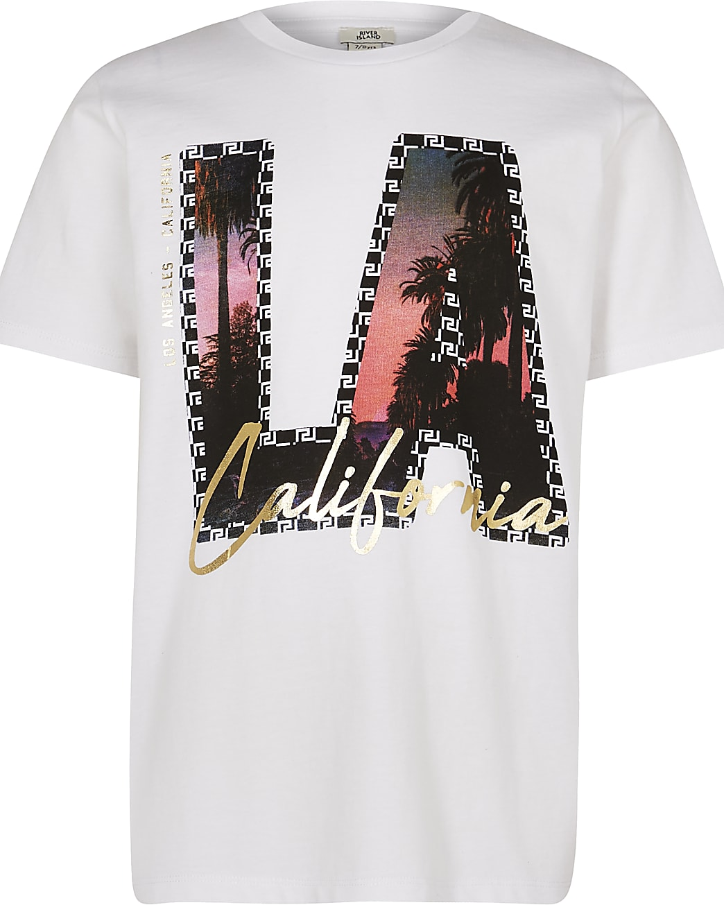 Boys white 'LA California' graphic t-shirt