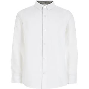 Langärmeliges Hemd in Weiß für Jungen