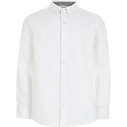 Boys white long sleeve R shirt