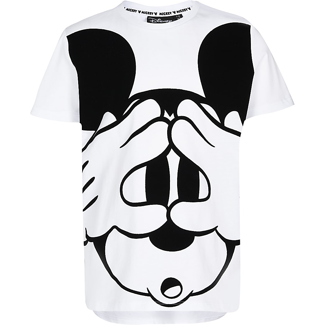Boys white Mickey Mouse t-shirt