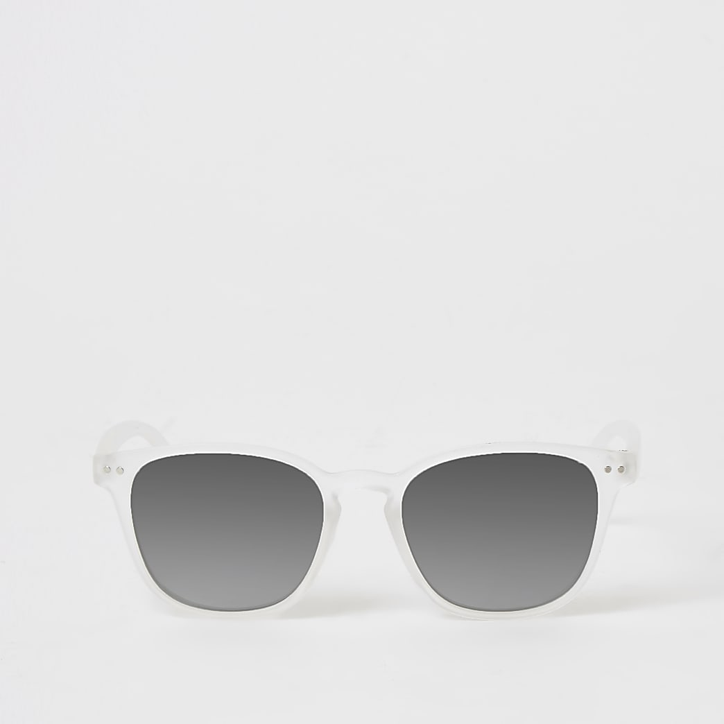 Boys white mirrored retro sunglasses