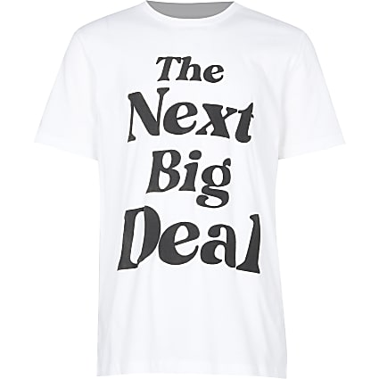 Boys white 'next big deal' t-shirt