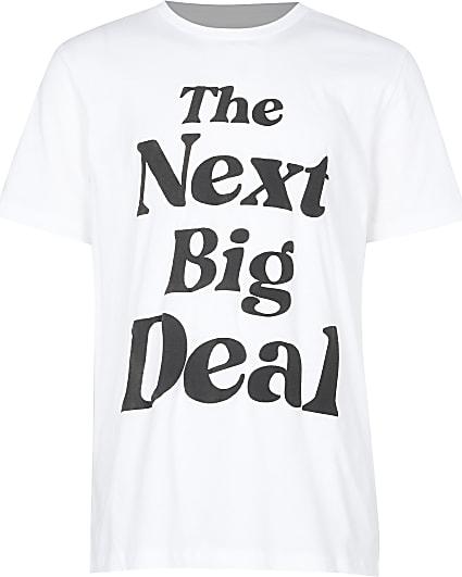 Boys white 'next big deal' t-shirt