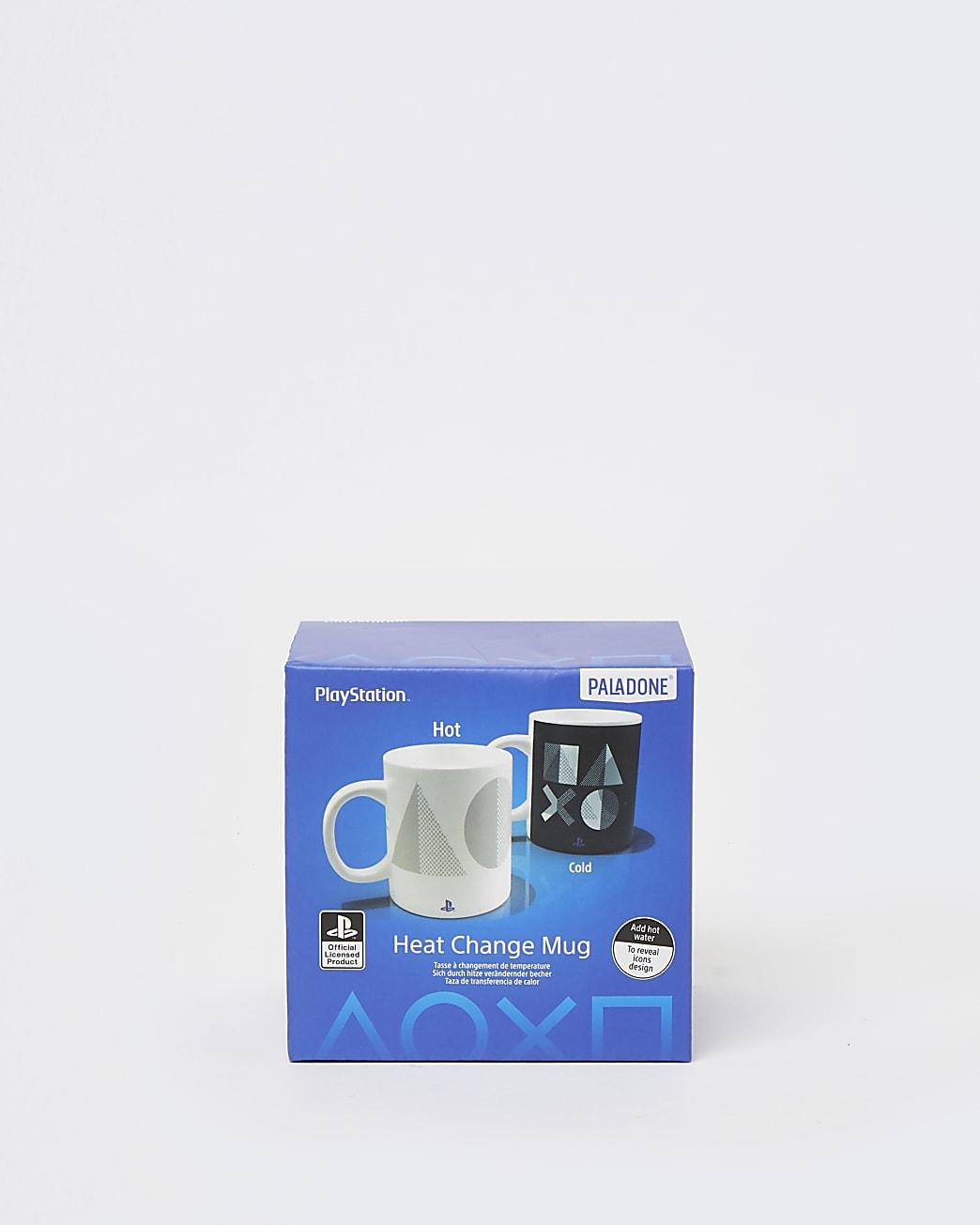Boys white Playstation heat change mug