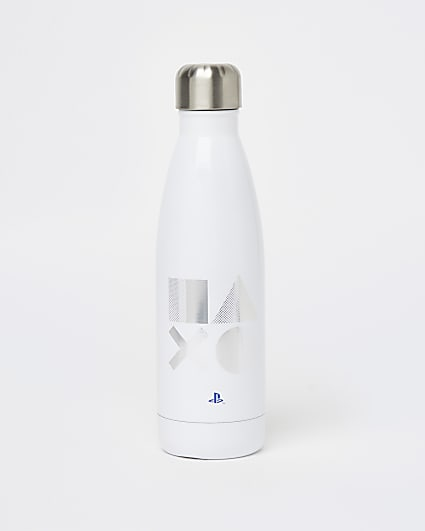Boys white Playstation water bottle