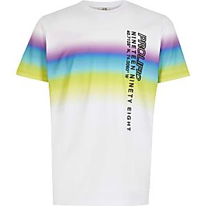 Prolific – T-shirtimprimé délavéblanc pour garçon