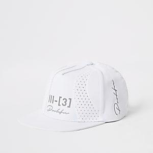 Boys white Prolific perforated block flat cap