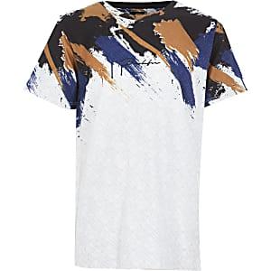 Prolific – T-shirt blanc imprimépour garçon