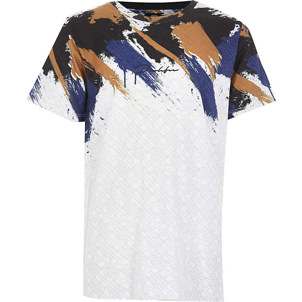 Boys white Prolific print T-shirt
