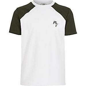 Geblümtes T-Shirt für Jungen in Weiß